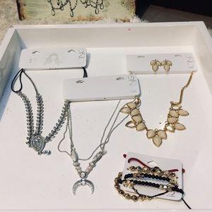 NWT Icing Necklace Earrings Headband Bundle Lot